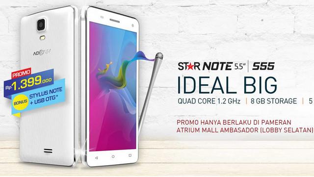 Advan Star Note S55 Diluncurkan, Phablet Murah Seharga Rp 1,4 Juta