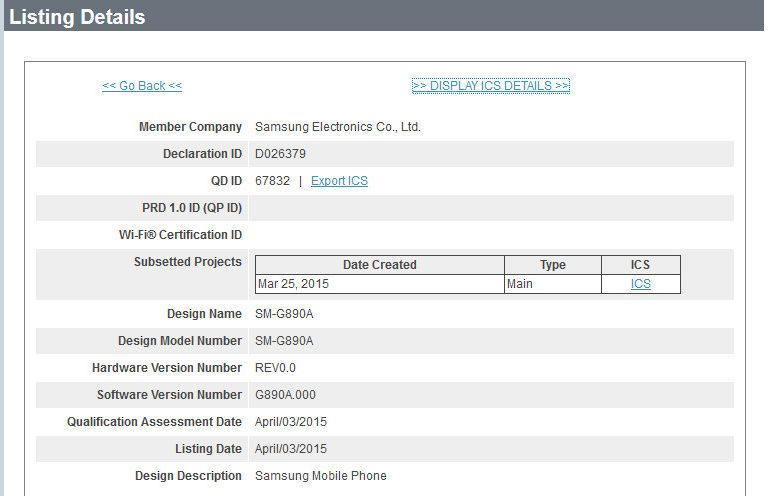 Database Bluetooth SIG Perlihatkan Samsung Galaxy S6 Active