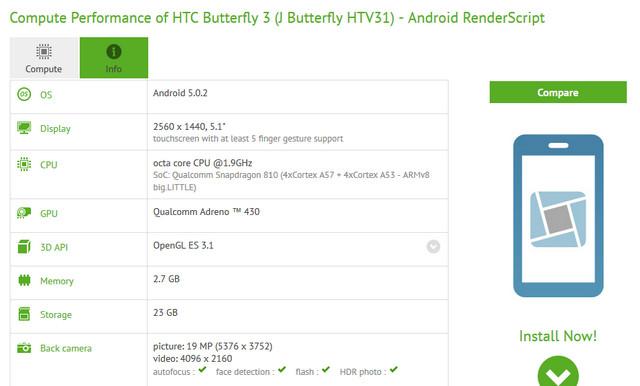 HTC Butterfly 3 Mengintip Dibalik Compubench, Ini Spesifikasinya