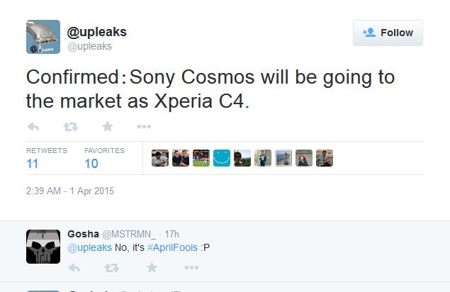 Sony Xperia C4 Bakal Jadi Nama Resmi Xperia Cosmos