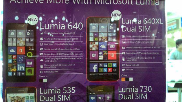 Lumia 640, Lumia 640 XL & Lumia 430 Dual SIM, 3 Ponsel Microsoft Segera Beredar di Indonesia