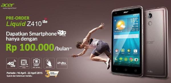 Pre-order Acer Liquid Z410 Mulai Dibuka, Ponsel 4G LTE Seharga Rp 1,3 Jutaan