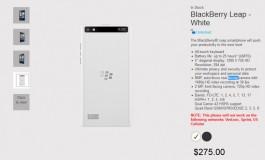 Blackberry Leap Warna Putih Sudah Dipasarkan Seharga Rp 3,6 Juta