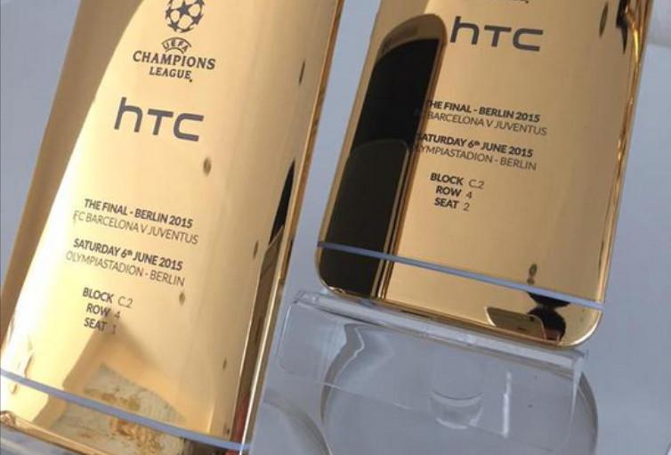 Gak Pede Pakai Kamera Sendiri, HTC Jepret One M9 Gold Edition (Liga UEFA) Dengan iPhone
