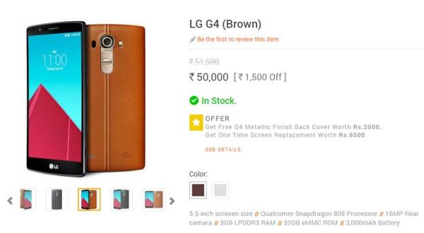 Belum Diluncurkan, LG G4 Sudah Dijual di India