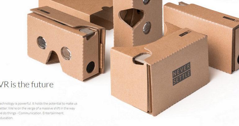 Cardboard Dibagikan Gratis Oleh OnePlus Untuk Peluncuran OnePlus 2