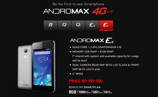 Andromax Ec Jadi Smartphone 4G Termurah Smartfren