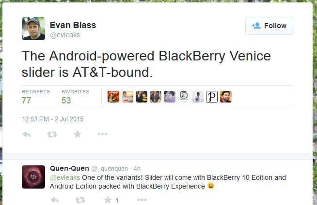 Blackberry Venice Bakal Diluncurkan Hanya di Amerika Serikat?