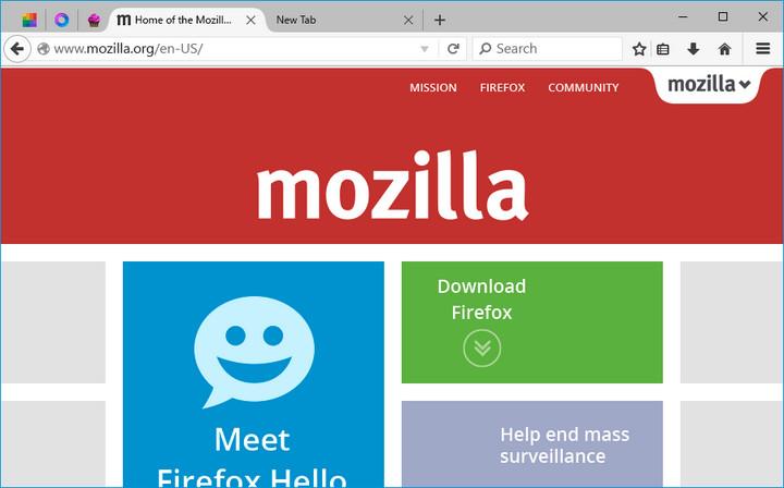 Mengintip Antarmuka Firefox Khusus Windows 10