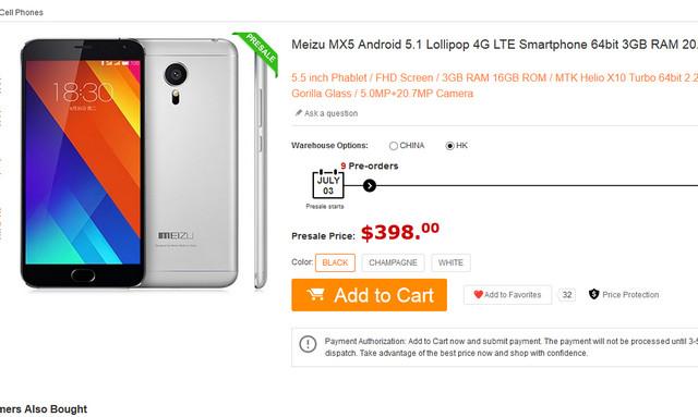 Pre-order Internasional Meizu MX5 Sudah Dibuka Seharga Rp 5,3 Juta