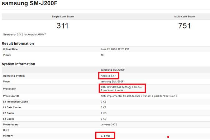 Samsung Galaxy J2 'Terdeteksi' Radar GFXBench