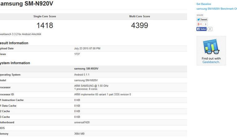 Samsung Galaxy Note 5 Dibekali RAM 4GB