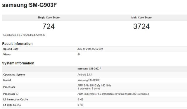 Samsung Galaxy S5 Neo Mampir di Geekbench