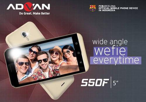 Advan Luncurkan Ponsel Selfie ADVAN S50F