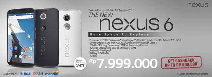 Motorola Nexus 6 Akhirnya Dijual di Indonesia, Pre-order Sudah Dibuka