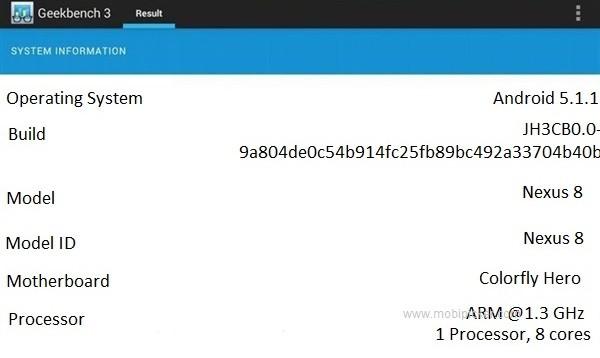 Nongol di Geekbench 3, Tablet Nexus 8 Dalam Pengerjaan?