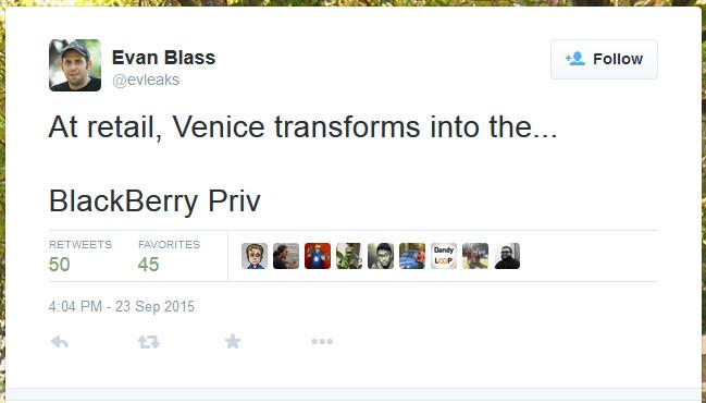 Bukan Blackberry Venice, Tapi Blackberry Priv 2
