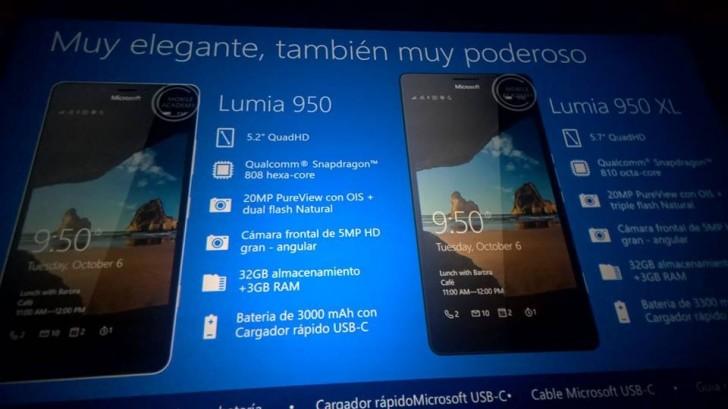 Detail Lengkap Microsoft Lumia 950 & 950 XL dan Lumia 550 Bocor