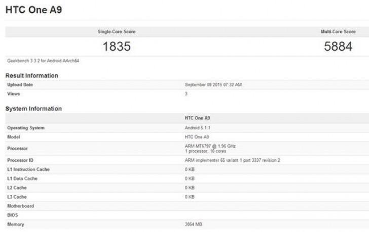 HTC One A9 Ditanami Prosesor Deca-Core Dengan RAM 4GB?
