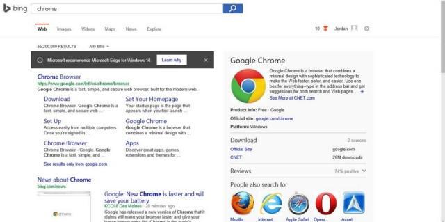 Microsoft Tak Rela Posisi Microsoft Edge Digantikan Browser Lain