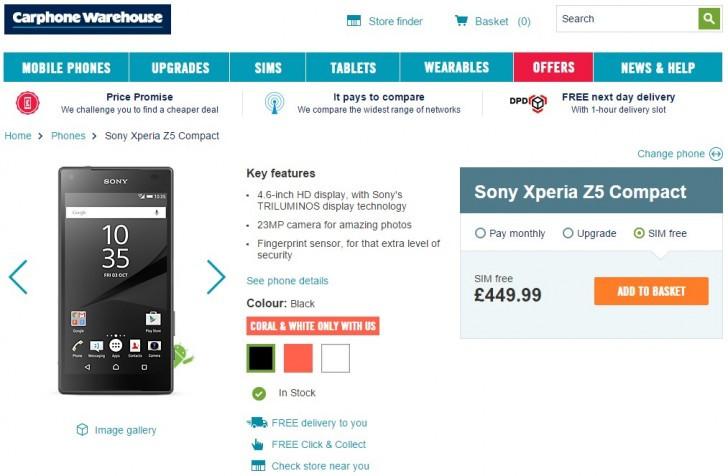 Sony Xperia Z5 Compact Mulai Dipasarkan di Eropa