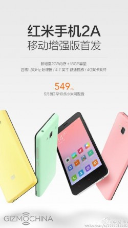 Spesifikasi Xiaomi Redmi 2A Dilipat Gandakan!