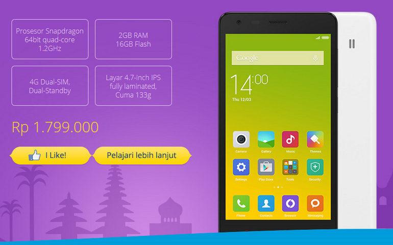 Xiaomi Redmi 2 Prime Jadi Hadiah Ulang Tahun Xiaomi Untuk Indonesia
