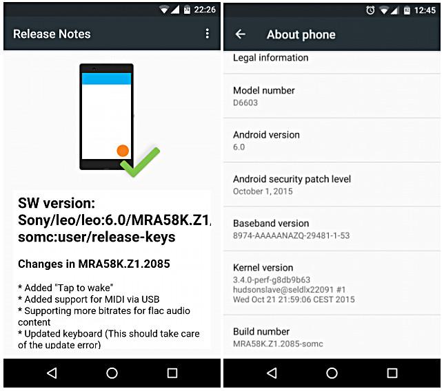 Build Perdana Konsep Android 6.0 Marshmallow Untuk Sony Xperia Z3 & Z3 Compact Mulai Bergulir