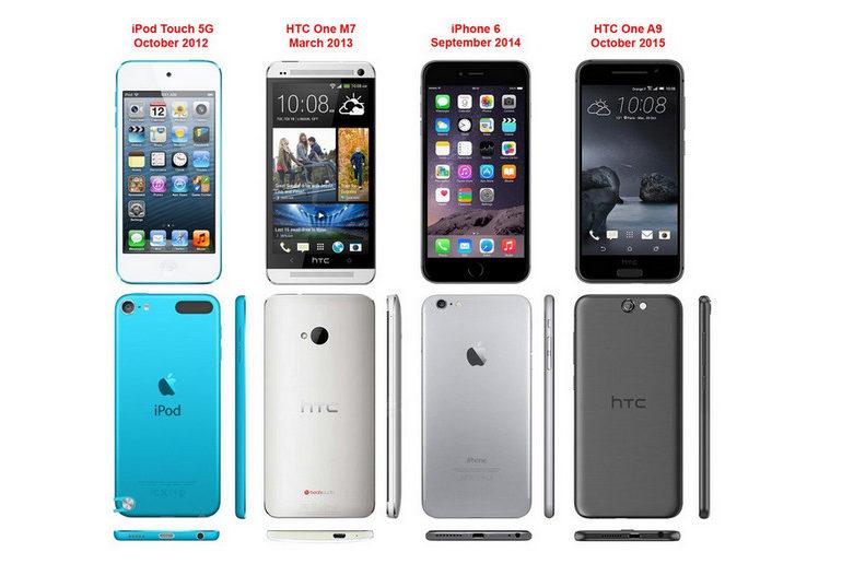 HTC Ingin Bantah Tudingan HTC One A9 Mencontek Desain iPhone 6
