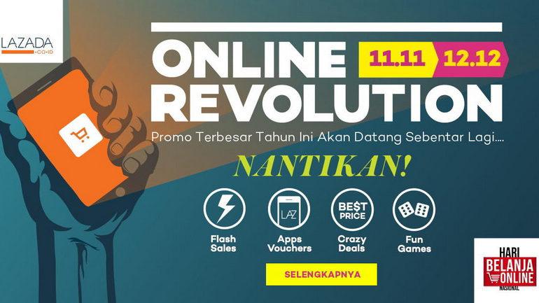 Lewat 'Online Revolution', Lazada Ingin Populerkan Perayaan Hari Belanja Online Nasional