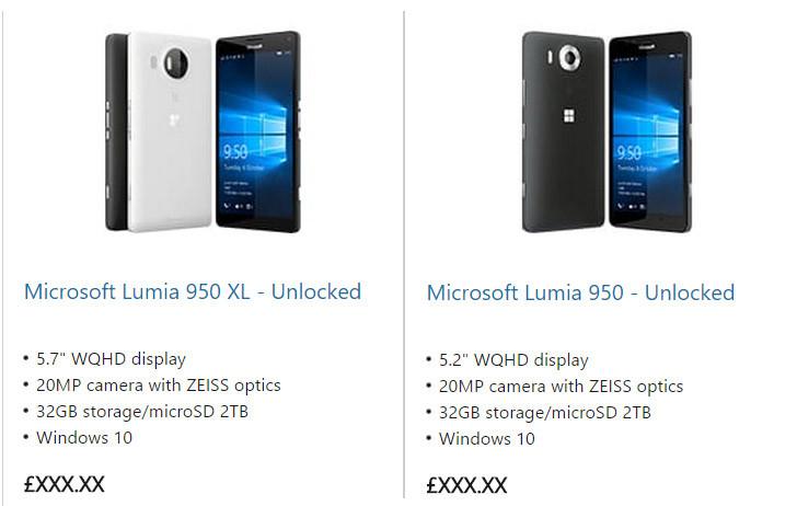 Lumia 950 & 950 XL Sudah Terpajang di Microsoft Store