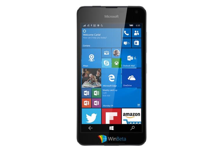 Microsoft Lumia 650 (Saana) Merender Dalam Gambar Bocoran