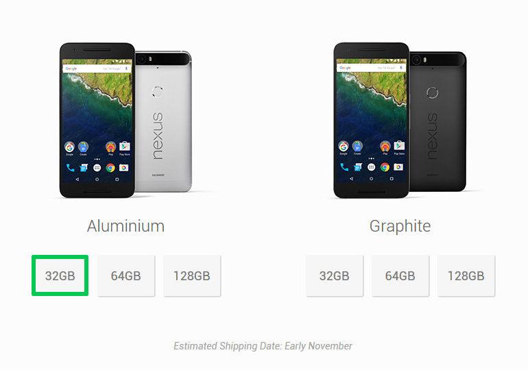 Nexus 6P 128GB Kini Tersedia di Toko Online Huawei