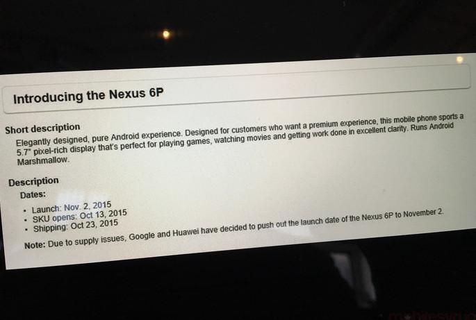 Peluncuran Google Nexus 6P di Kanada 'Molor'