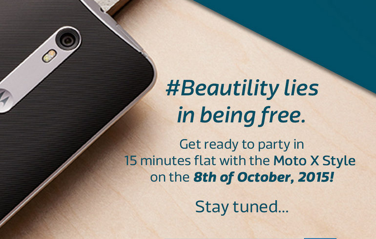 Susul X Play, Motorola Moto X Style Sambangi India 8 Oktober