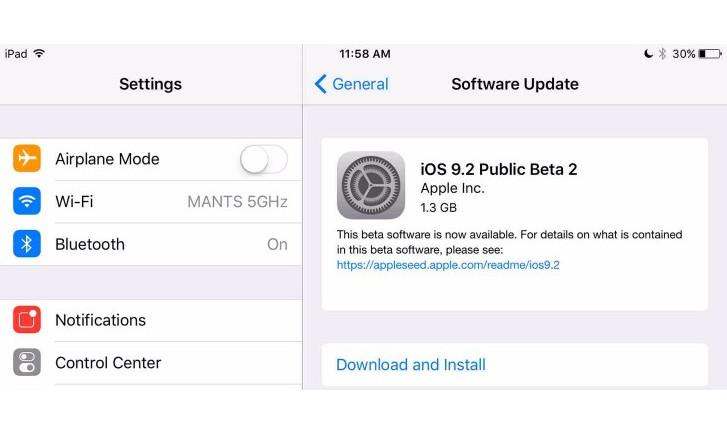 Apple Gulirkan iOS 9.2 Public Beta 2