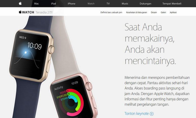 Apple Watch Rilis di Indonesia Bulan Ini