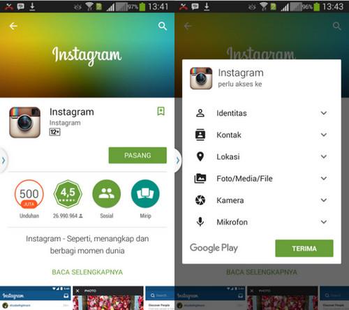 Buat akun instagram 1