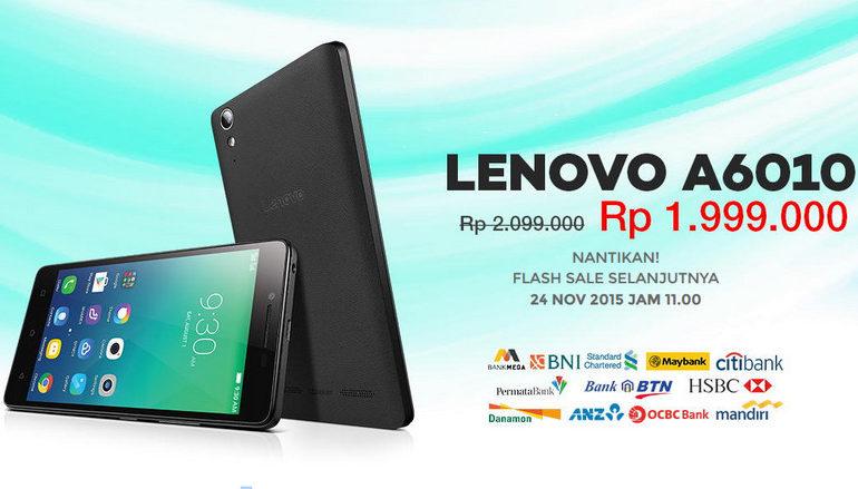 Siap-siap, Flash Sale Lenovo A6010 Di lazada Dibuka Kembali Besok