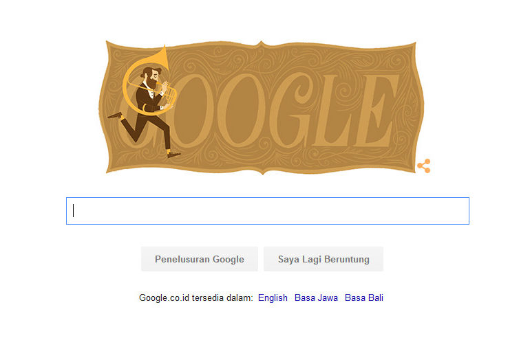 Google Rayakan HUT Adolphe Sax ke-201 Ala Doodle, Siapa Dia?