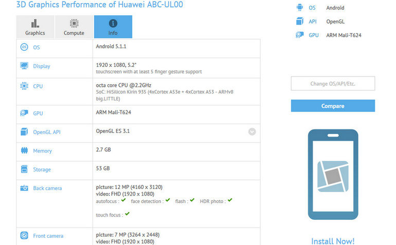 Nongol di GFXBench, Ponsel Misterius Ini Diduga Huawei Honor 5X Plus