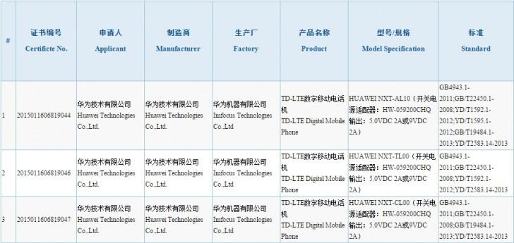 Huawei Mate 8 Sudah Disertifikasi Otoritas Sertifikasi China 1