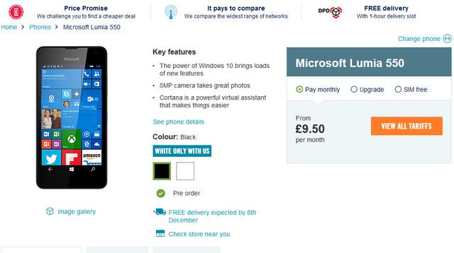 Pre-Order Microsoft Lumia 550 Juga Sudah Dibuka