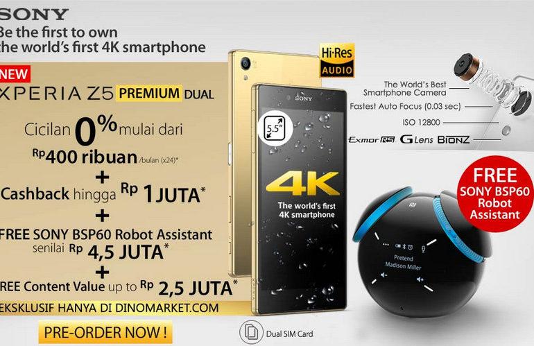 Pre-Order Sony Xperia Z5 Premium Dual Dibuka di Indonesia