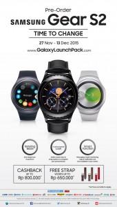 Pre-order Samsung Gear S2 di Indonesia