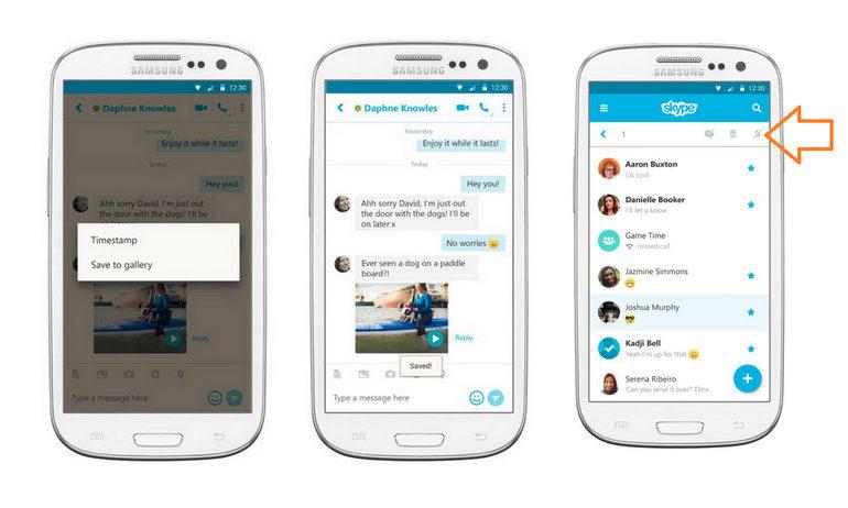 Skype Untuk Android Kini Bisa Simpan Video