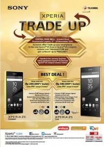 Sony Buka Program Pertukaran Ponsel iPhone & Samsung Dengan Sony Xperia Z5 & Z5 Compact Dual di Central Park Mall