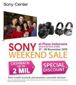 Weekend Sale Sony di Plaza Indonesia 2