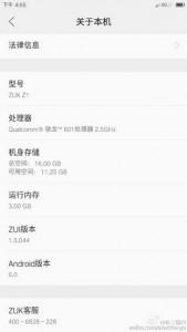 ZUK Z1 Tertangkap Kamera Pakai Android 6.0 Marshmallow Ala Zui UI 2