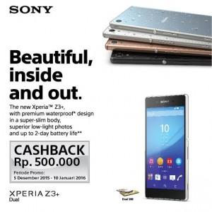 Cashback Sony Xperia Z3+ Dual